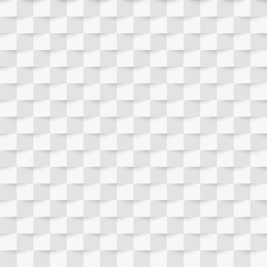 Vector illustration seamless pattern 3d paper rectangles