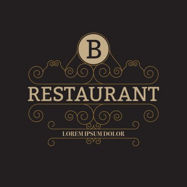 Vector illustration of a luxury restaurant logo