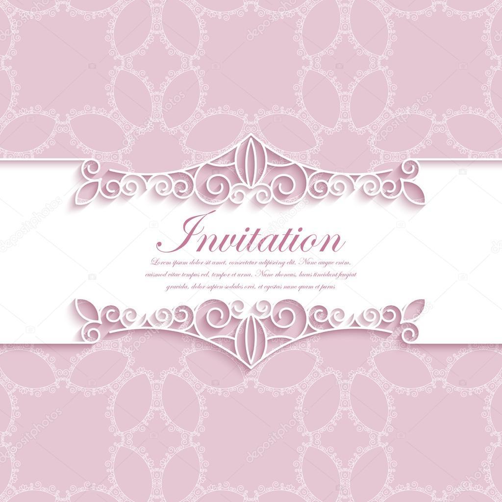 Vector illustration of a modern wedding invitation vetor de stock vector illustration of a modern wedding invitation vetor de stock stopboris Images