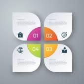 Fotografia Vettoriale illustrazione infografica quattro opzioni quadrati
