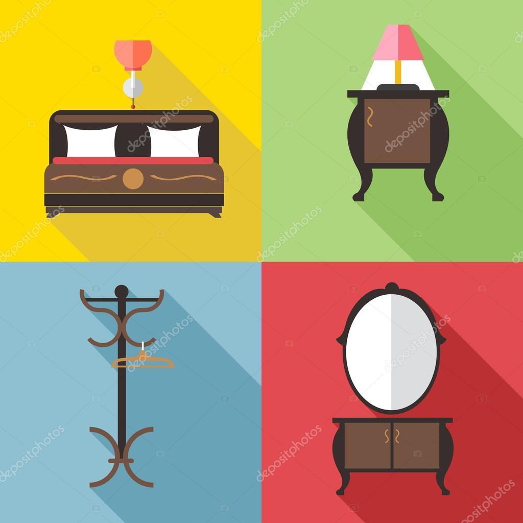 Muebles Con Espejo En Los Contornos Imagen Digital Vectorial  # Muebles Digitales