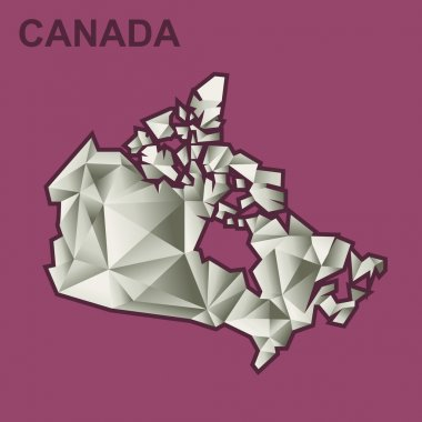 Digital vector canada map with abstract