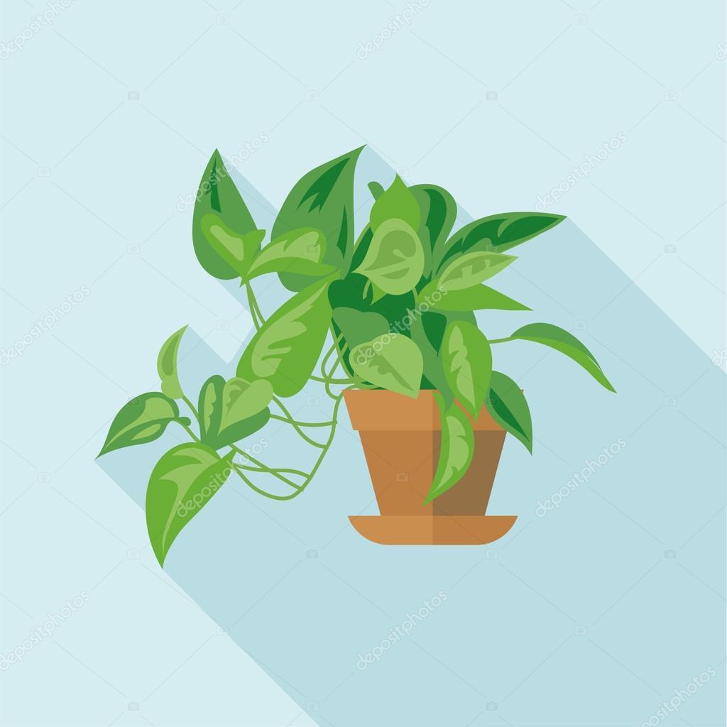Digital vector green decorative office