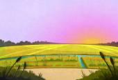 Východ slunce v polích