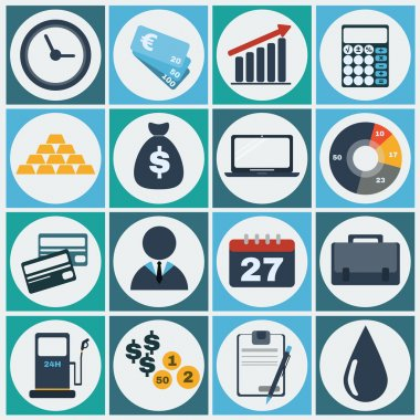 Colorful  Economy icon set