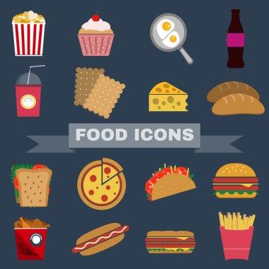 Food Snacks Icon Set