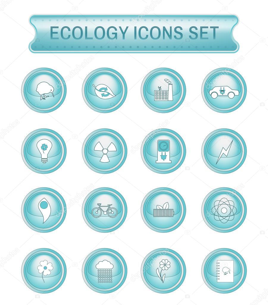 Ecology logo icon set.