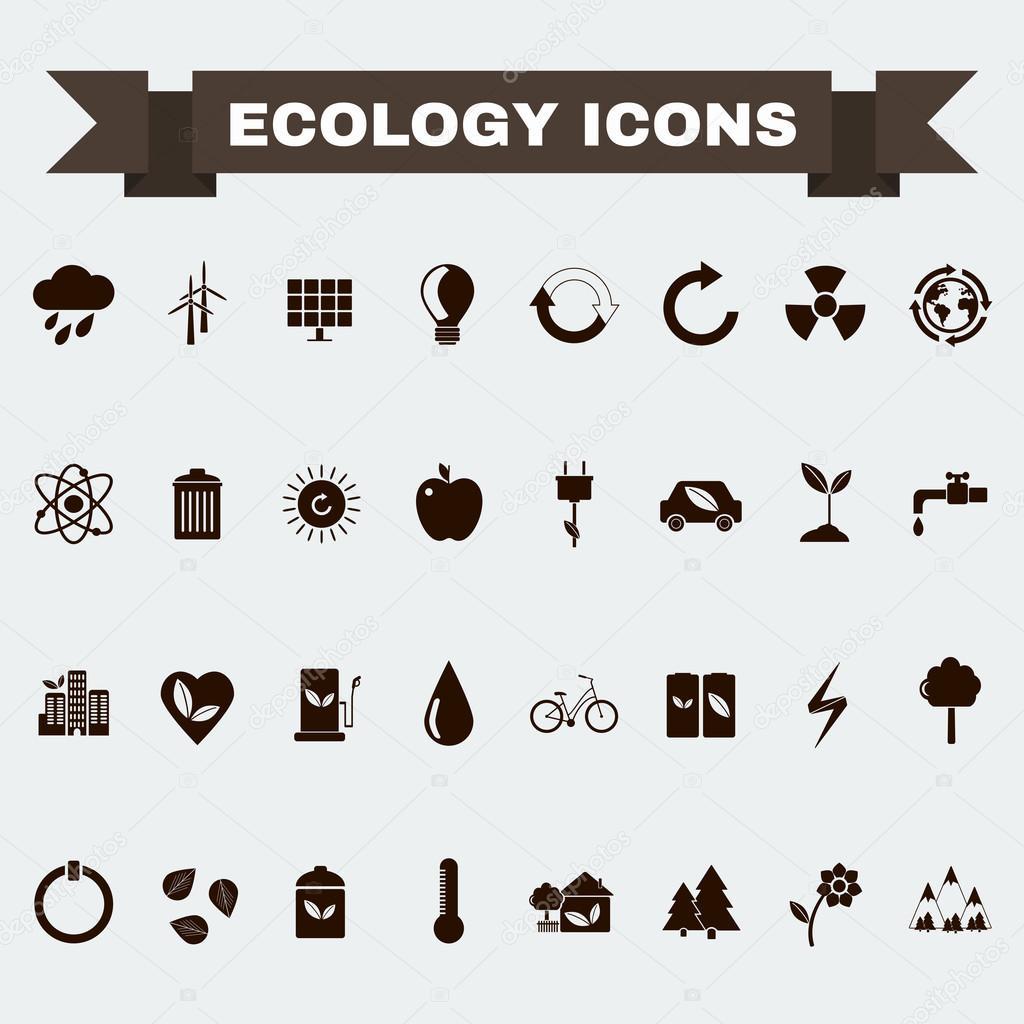 Ecology Big Icons Set