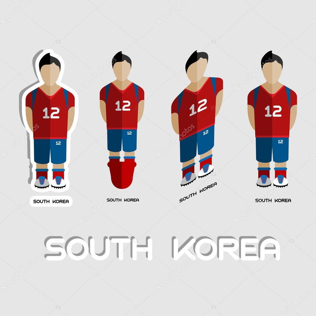 58c76cf53 South Korea Soccer Team Sportswear Template — Stock Vector ...