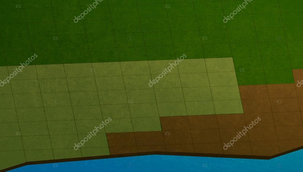 Campi di gioco del computer è costituito da piastrelle quadrate