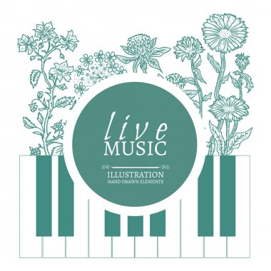 Musical cafe live music cover template
