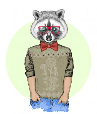 Portrait of fashion husky dog, hipster animals