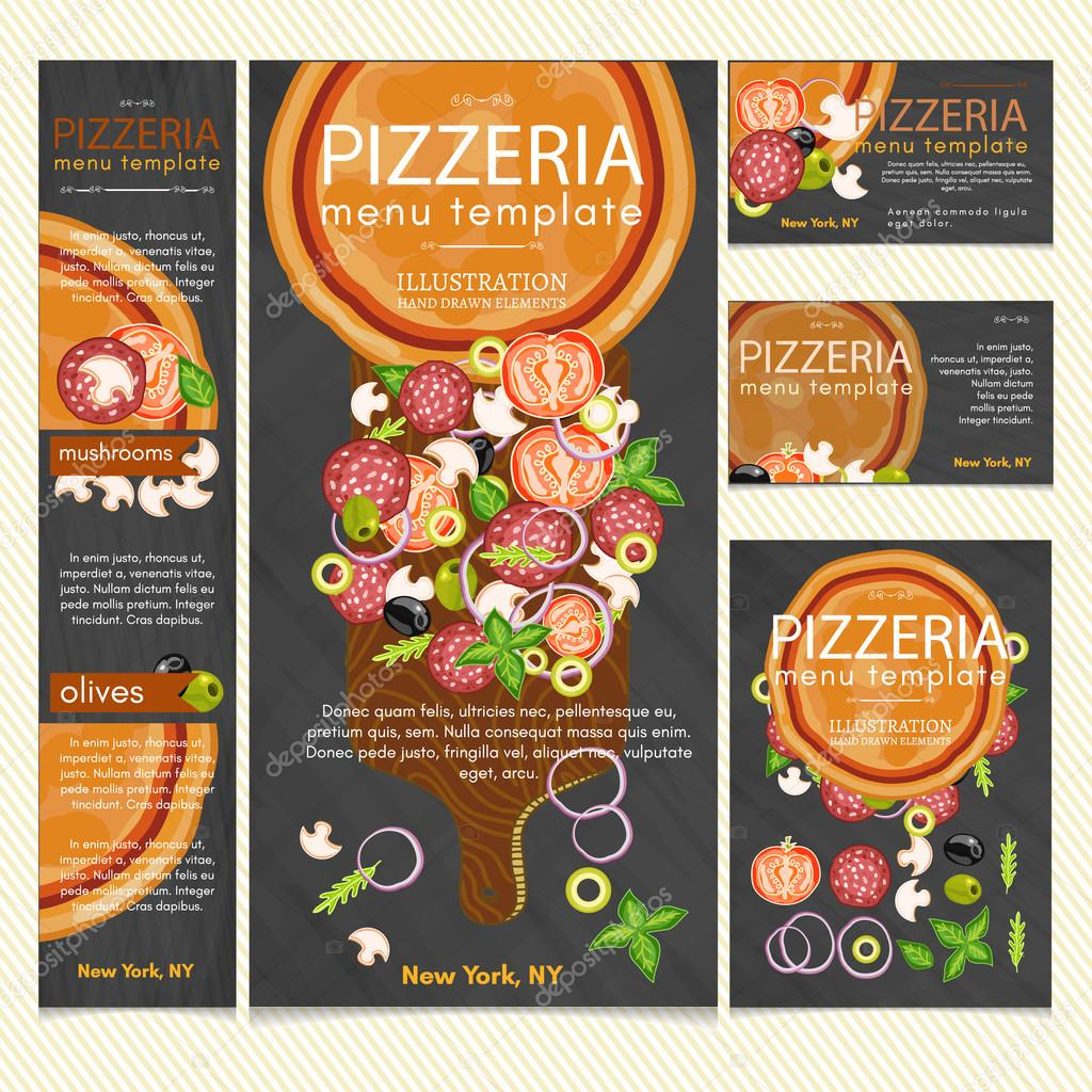 Pizza Restaurant Menu Template Vector Stock Vector C Intueri