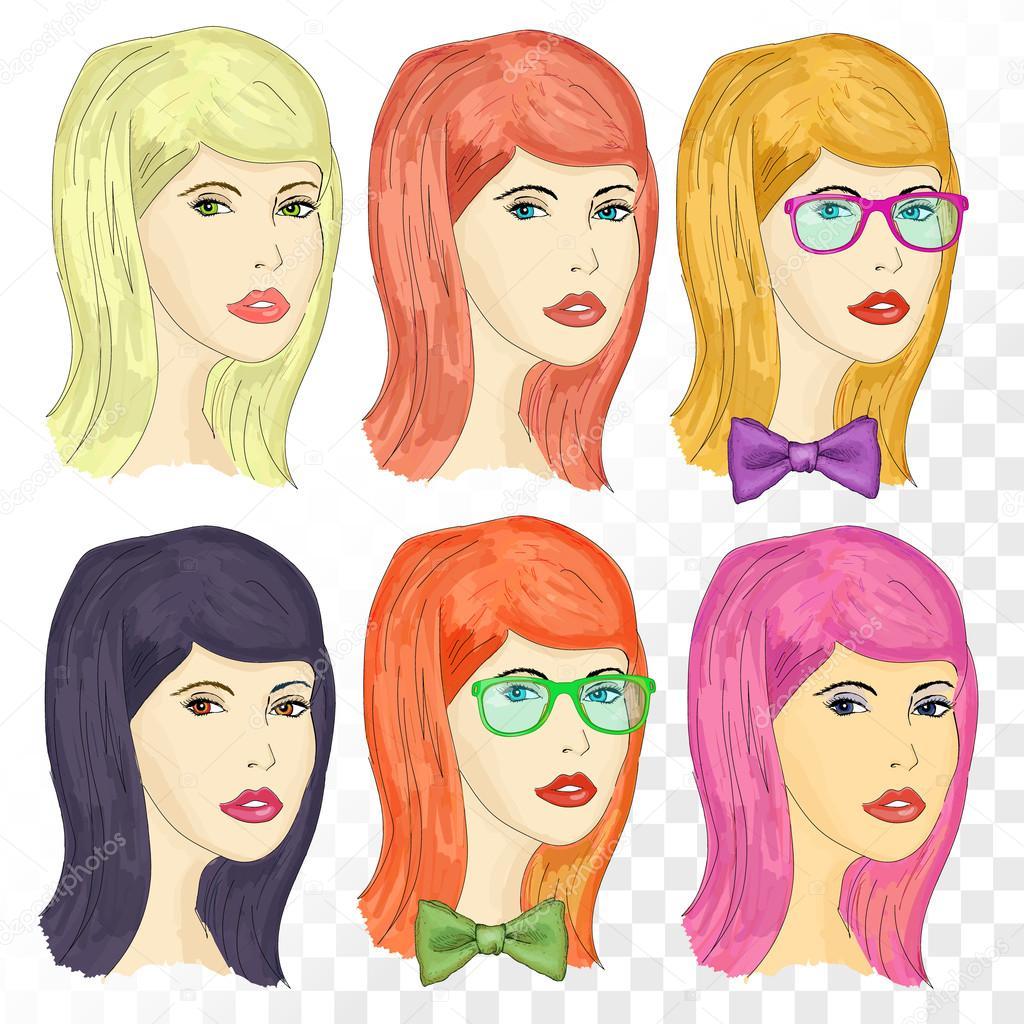 Картинка девушки рыжая и блондинка