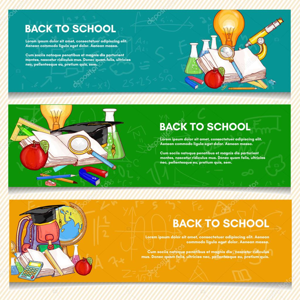 Education Banner Back To School Education Background Stock Vector C Intueri 115496860