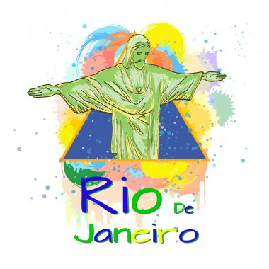 Welcome to Rio de Janeiro template for printing on t-shirts vector illustration clip art vector