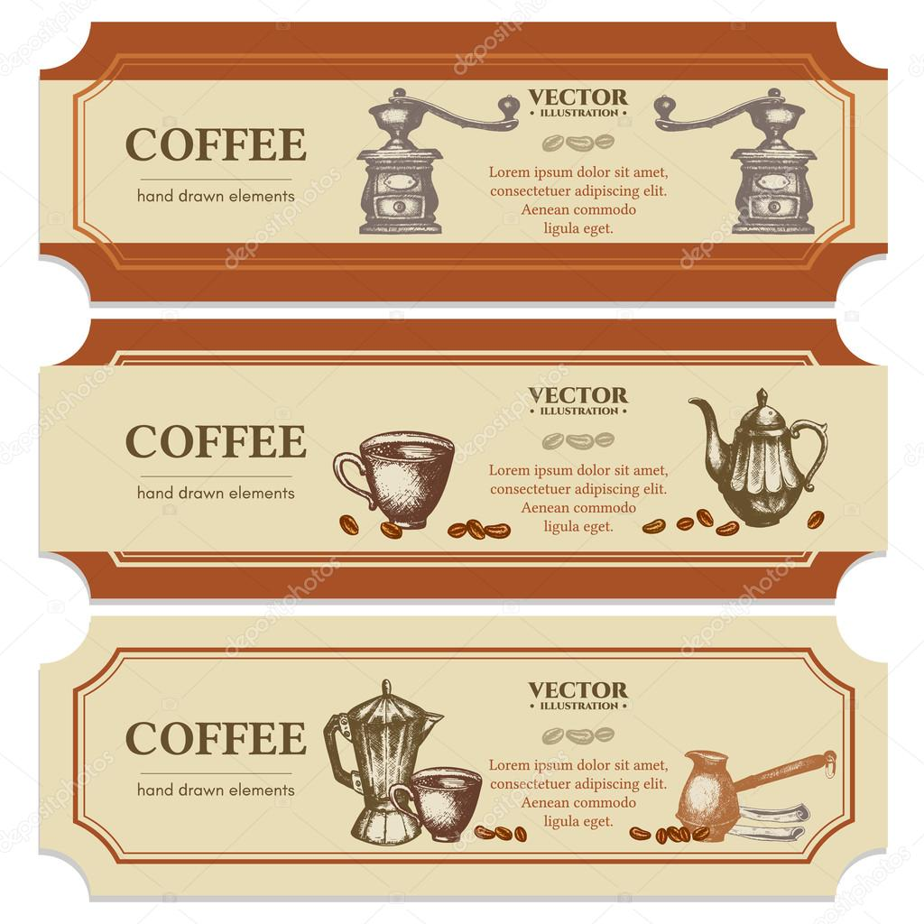 Plantillas de diseño de etiqueta café — Vector de stock © intueri ...