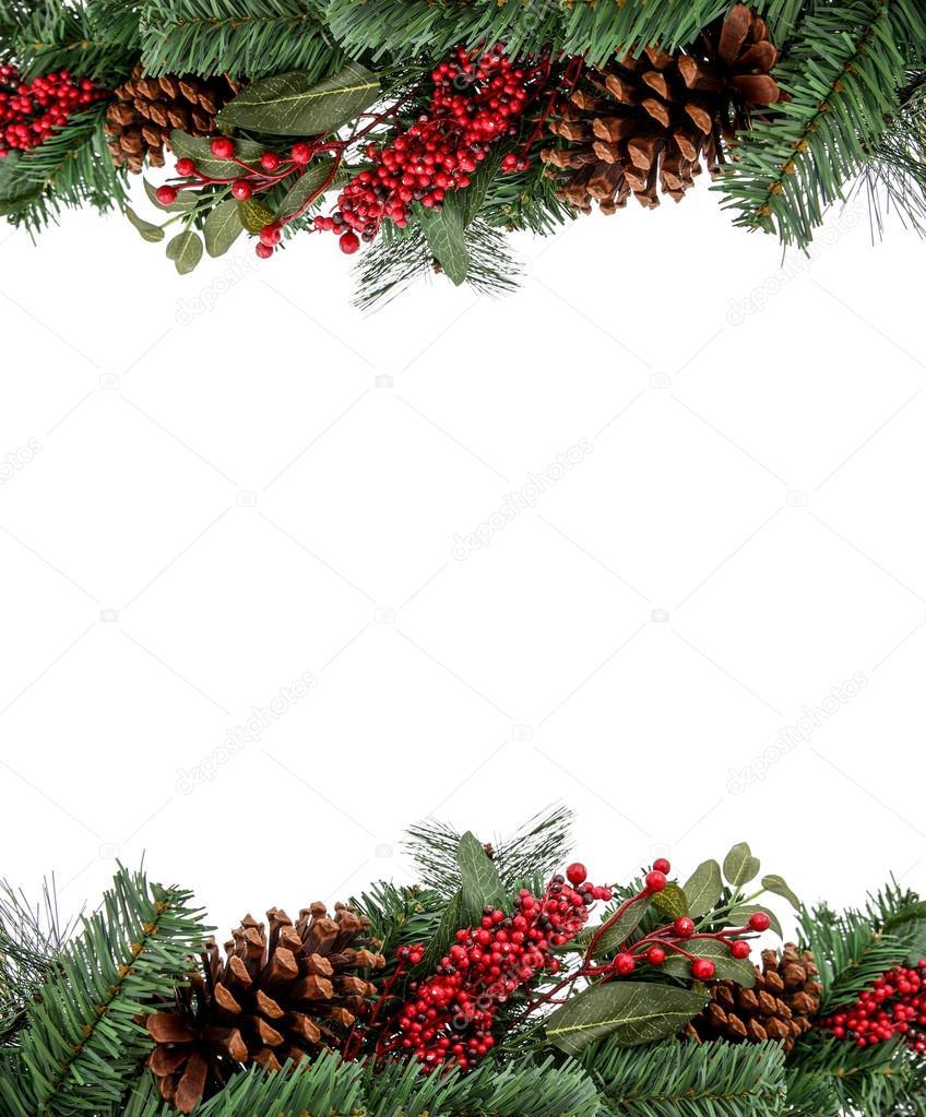 Marco de Navidad frontera perenne para el diseño, — Fotos de Stock ...