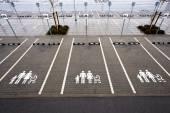 Parkovací místo pro rodinu s dítětem