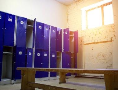 Locker room at the gym