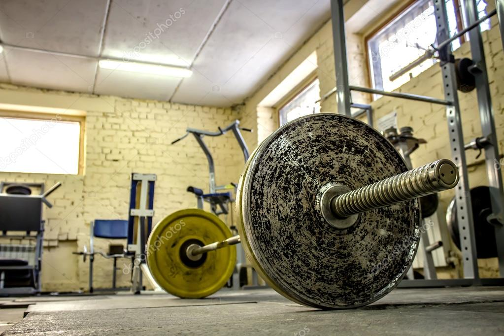 Interior of an old gym for bodybuilding u2014 stock photo © igorbukhlin