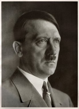 Studio portrait of Adolf Hitler, leader of nazi Germany. Reproduction of antique photo.