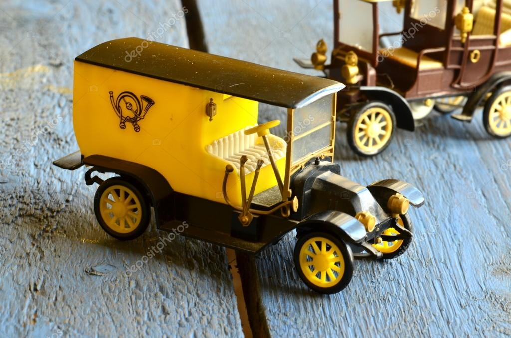 Vintage Toy Cars Post Car Mail Delivery Vehicle With Plastic