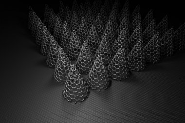 3D Rendering of Carbon Nanocone