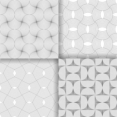 Set of four art deco textures