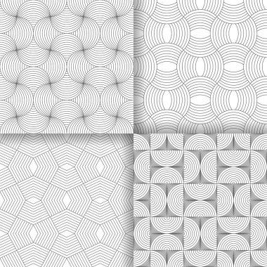 Set of four art deco textures