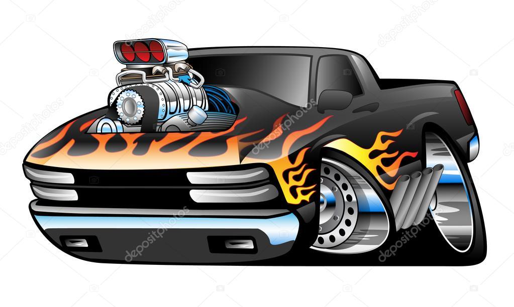 Hot Rod Pickup Truck Illustration — Stock Vector © hobrath #73811813