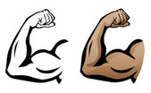 Photo Muscular Arm Flexing Bicep Illustration