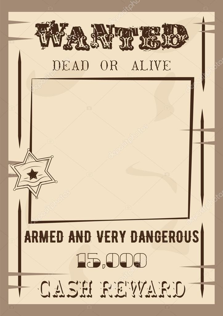 Wollte Plakat-Vorlage-Vektor-Illustration im Vintage-Stil. Toten ...