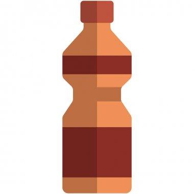 Vector water bottle. Plastic fitness drink sport reusable flask pack isolated on white background. Bottled energy beverage illustration icon