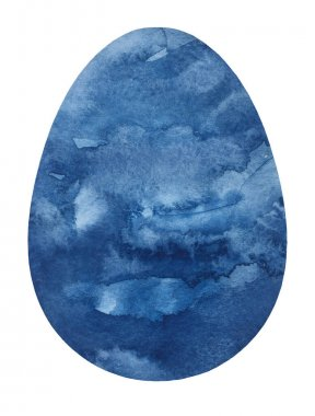 Planet Neptune in the form of an Easter egg for the happy Easter holiday for a greeting card, for jokes for a good mood.