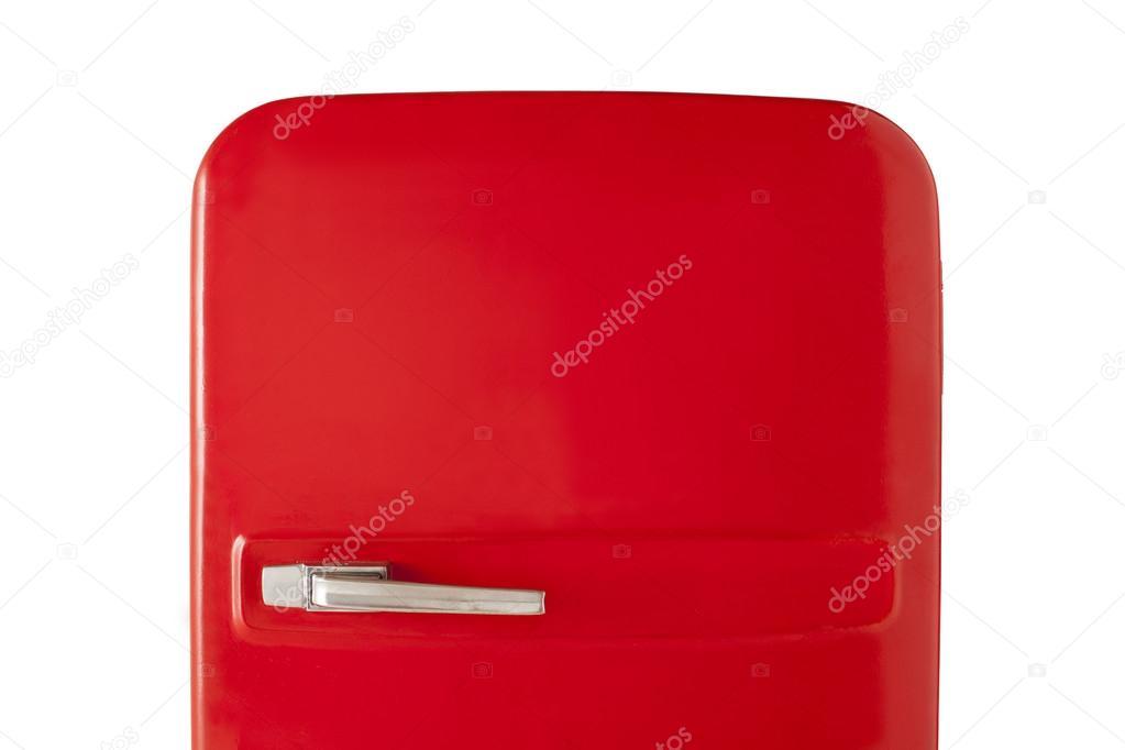 Vintage Kühlschrank Rot : Rote vintage kühlschrank isoliert auf weißem hintergrund