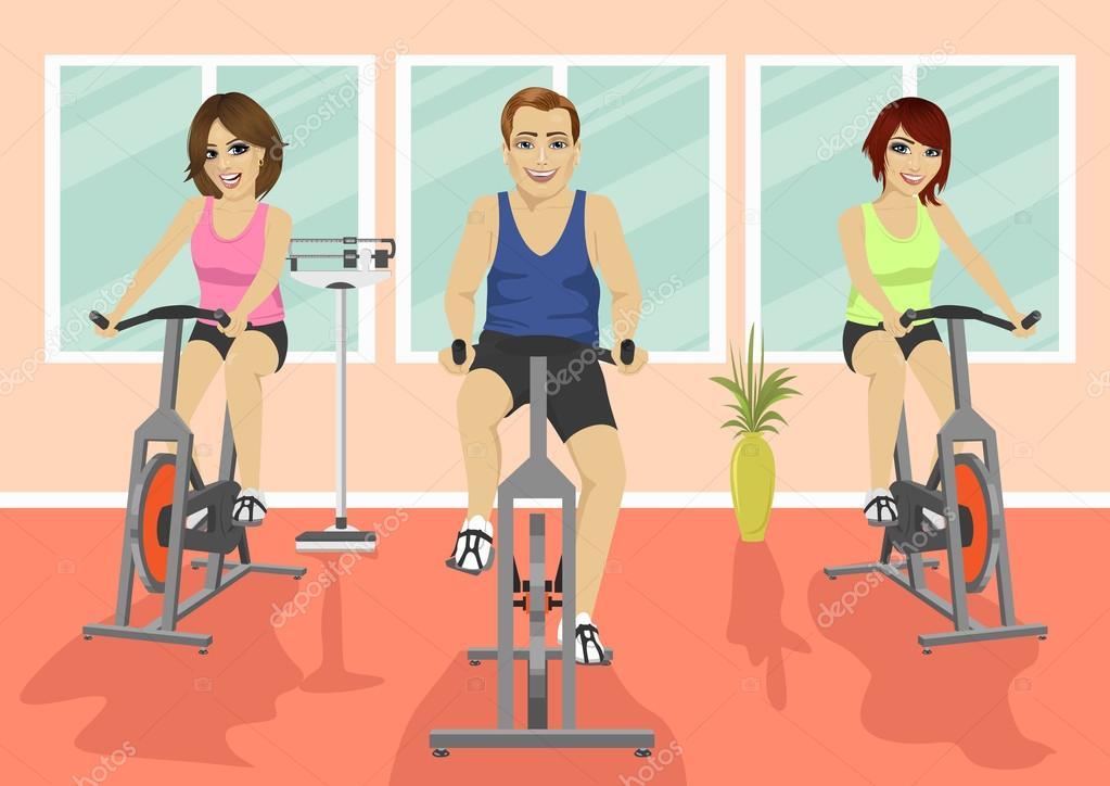 Grupo de personas en el gimnasio ejercitando sus piernas - Imagenes de gimnasio ...