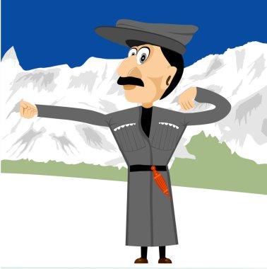 georgian dancing in mountains
