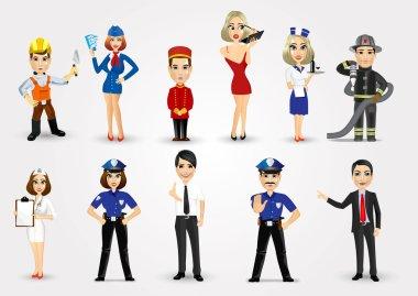 set of 11 professions