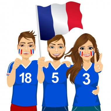 young french soccer fans