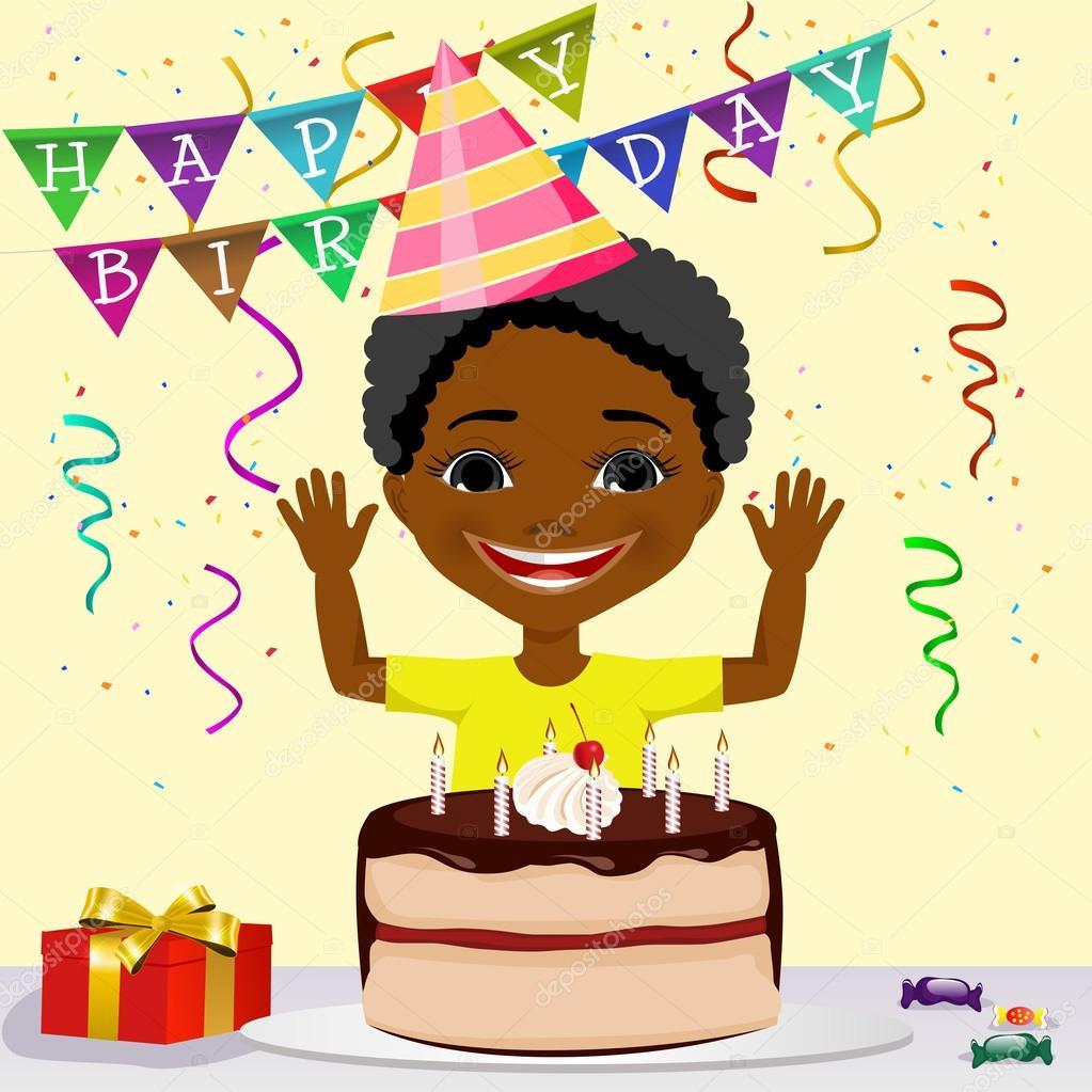 Happy Birthday Afro Cake