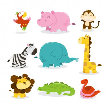 Happy Jungle Animals Icons