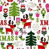 nordische Weihnachten nahtlose Muster Hintergrund