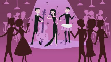 Mid Century Modern Retro Jazz Club Scene