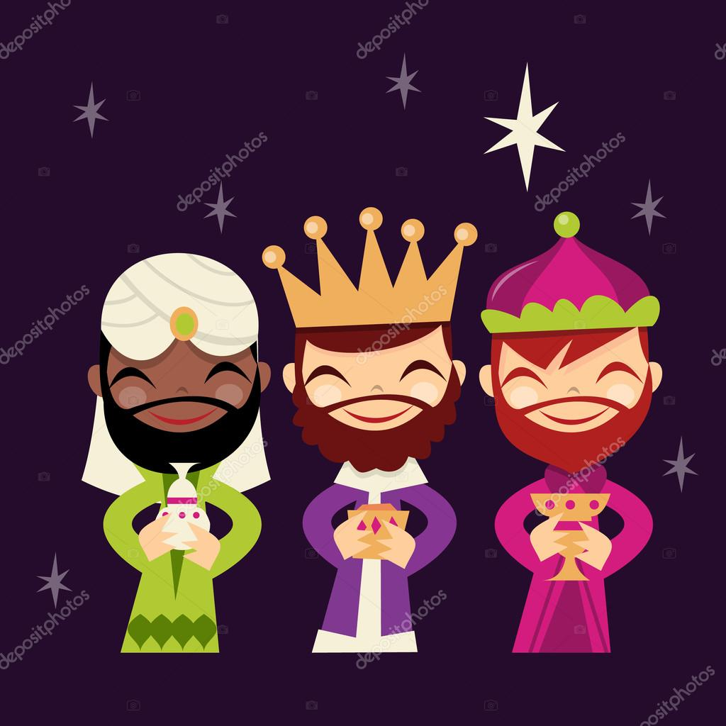 Retro Cute Three Kings