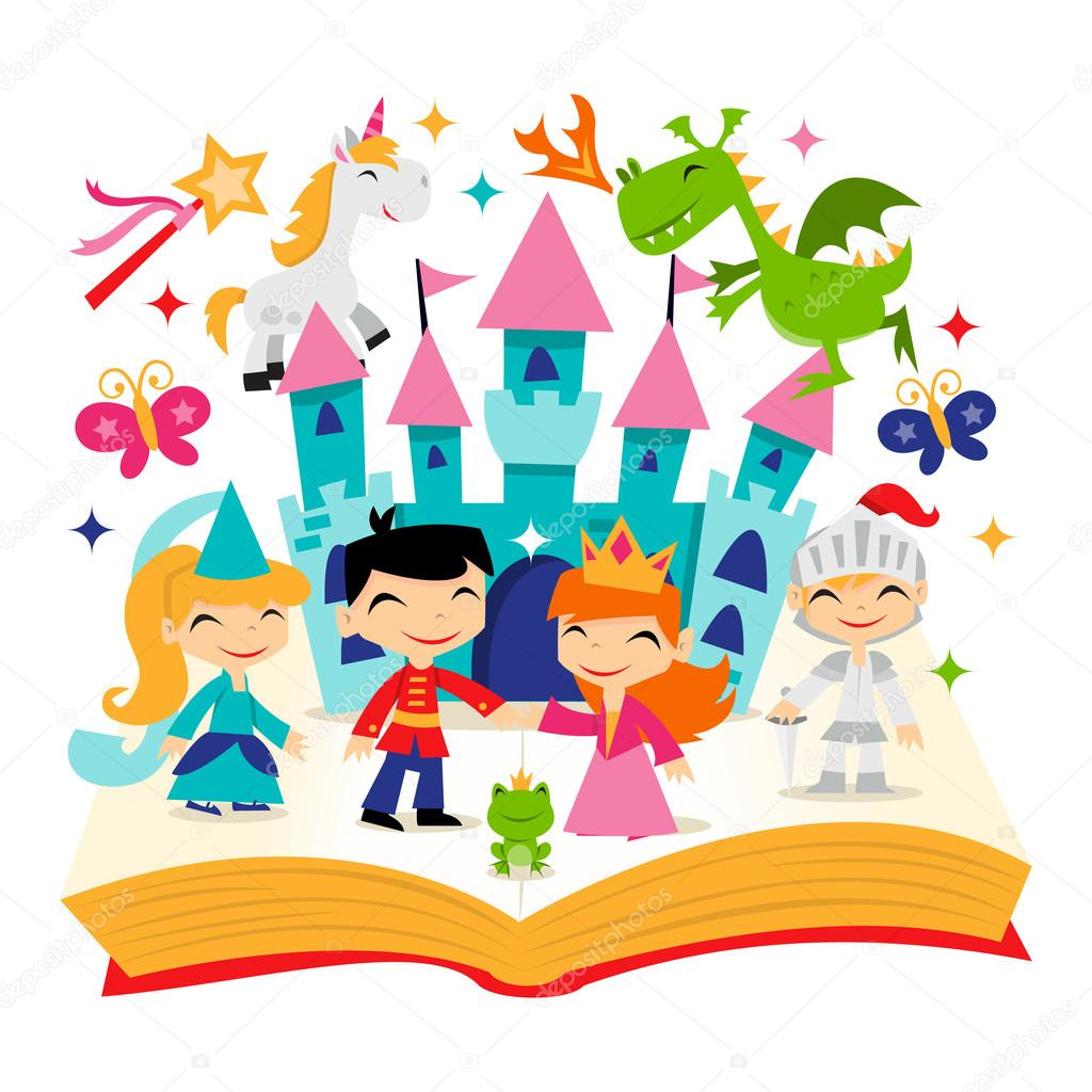 Retro Magical Fairytale Kingdom Story Book