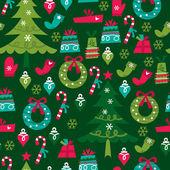 skurrile retro Weihnachten nahtlose Muster Hintergrund