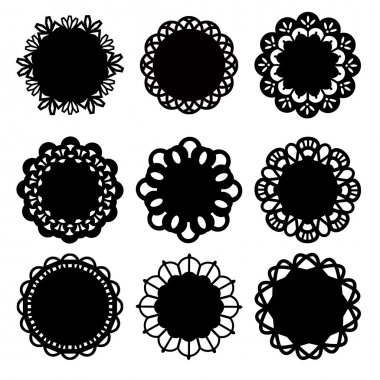 Floral Doily Lace Decoration Design Elements