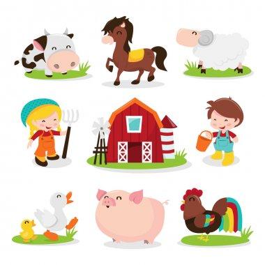 Happy Barnyard Farm Friends
