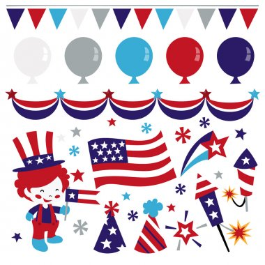 Americana Patriotic Design Elements